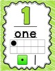 Lime and Yellow Number and Alphabet Posters