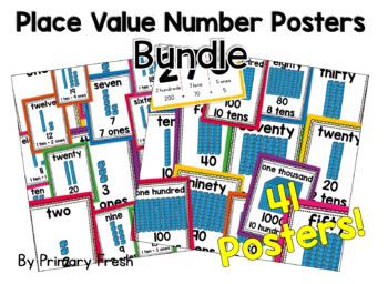Number Posters BUNDLE