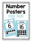 Number Posters - Baby Blue
