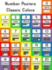 Number Posters Classic Colors {0-20 with Ten Frame, Number and Number Word}