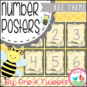 Bee Number Posters