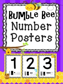 Number Posters ~Bee Themed~ #'s 0 - 10