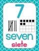 Number Posters, Berry Cool Theme {Dual Language}