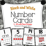 Number Posters {Black and White Themed}