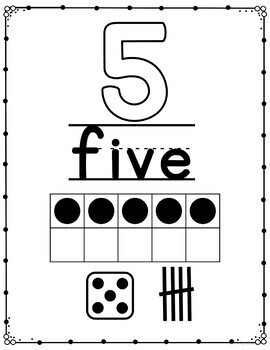 Number Posters Black and White