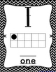 Number Posters Black and White Chevron