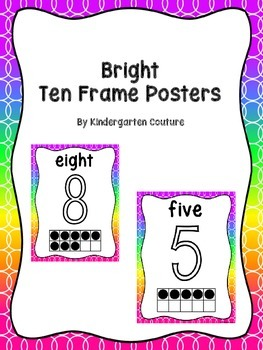 Number Posters -Bright