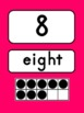 Number Posters Bright Colors {0-20 with Ten Frame, Number and Number Word}
