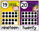 Number Posters Bright Colors (1-20 Melonheadz)
