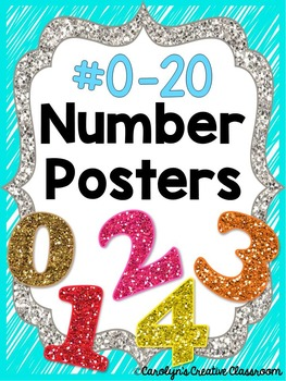 Number Posters - Bright Neon Colors