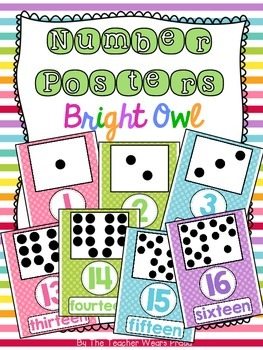 Number Posters {Bright Owl}