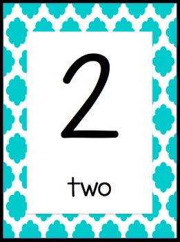 Number Posters Bundle: Quatrefoil (4 sets of posters)