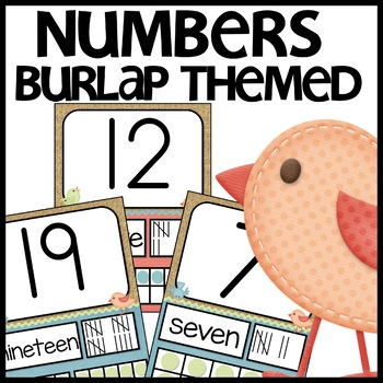 Number Posters (Burlap)