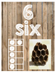 Number Posters - Burlap with Photographs