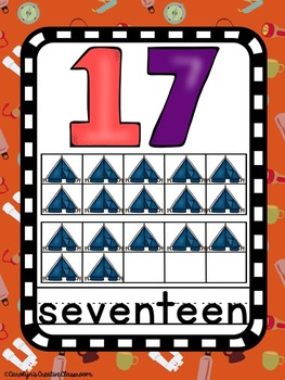 Number Posters - Camping