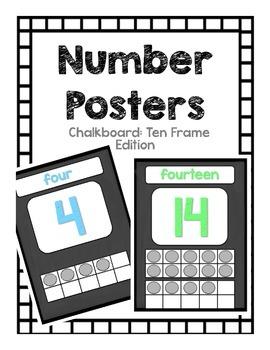 Number Posters: Chalkboard Pastel