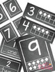 Number Posters - Simple Clean Chalkboard, 1-10 Ten Frame, 1-20 Math Flashcards
