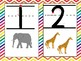 Number Posters Chevron Zaner Bloser Style, Starting Points,Directional Arrows
