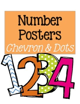 Number Posters: Chevron and Dots (#1-20)