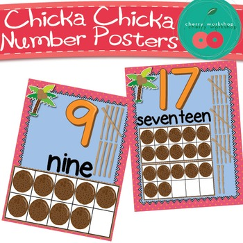 Chicka Chicka Boom Boom Inspired Numbers