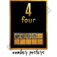 Number Posters - Classroom Decor Black and Gold