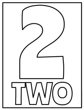Number Posters | Classroom Decor | Coloring Pages for Back to School