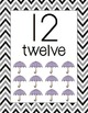 Number Posters Classroom Pack-Black Chevron