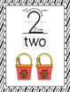 Number Posters Classroom Pack-Black Stripes