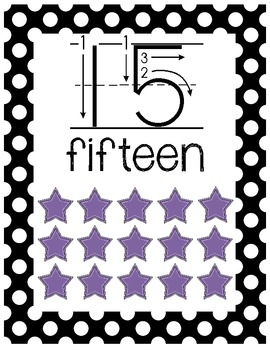 Number Posters Classroom Pack-Black and White Polka Dot