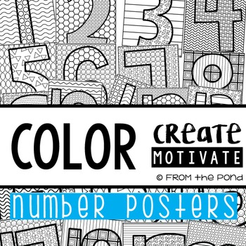 Number Posters {Color Create Motivate}