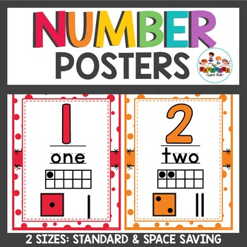 Number Posters Confetti Sprinkle