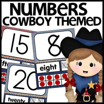 Cowboy Themed Number Posters
