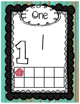 Number Posters - Distressed Wood & Wonderland Theme