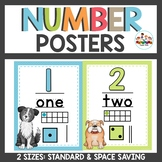 Dog Themed Number Posters