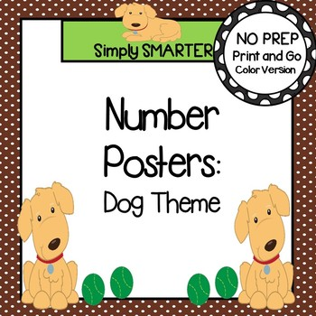 Number Posters:  Dog Theme