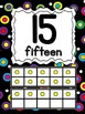 Number Posters - Polka Dots on Black