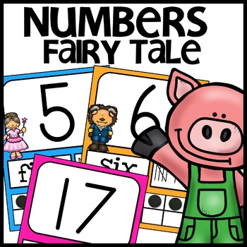 Number Posters | FAIRY TALE THEMED