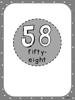 Number Posters (First Grade, 1.NBT.1)
