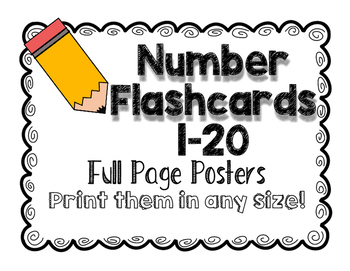Number Posters/Flashcards 1-20