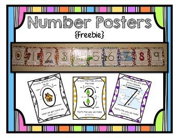 Number Posters {Freebie}