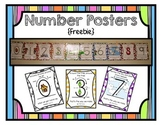 Free Number Posters