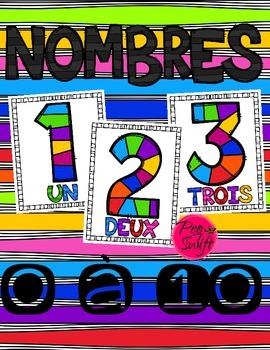 number posters french 0 à 10 rainbow gameboard tpt