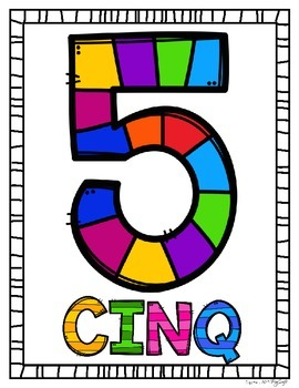 Number Posters ~ French ~ 0 à 10 Rainbow Gameboard