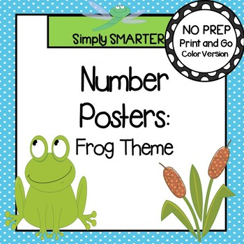 Number Posters:  Frog Theme