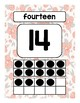 Number Posters: Gray & Peach Floral