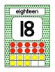 Number Posters: Green Polka Dots