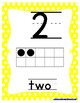 Number Posters Green, Yellow, Red Polka Dot