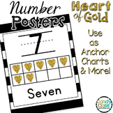 Number Posters 1-20 with Ten Frames: Black and Gold Classr
