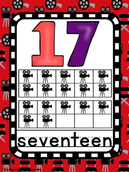 Number Posters - Hollywood or Movie Theme