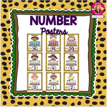 Number Posters {Jungle-Safari Themed}